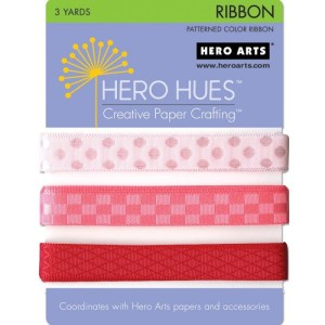 Hero Hues Ribbon 1yd 3/Pkg – Blush