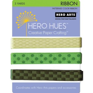 Hero Hues Ribbon 1yd 3/Pkg – Foliage
