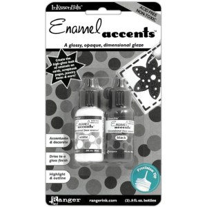 Inkssentials Enamel Accents .5oz 2/Pkg – Black & White
