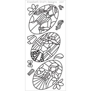Jackie's Dolls In Ovals Peel-Off Stickers – Black