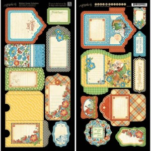 Mother Goose Cardstock Die-Cuts 6″X12″ Sheets 2/Pkg – Tags & Pockets