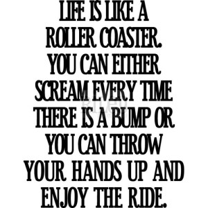 Riley & Company Funny Bones Cling Mounted Stamp 2″X1.25″ – Life Is Like A Roller Coaster