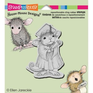 Stampendous House Mouse Cling Rubber Stamp 3.5″X4″ Sheet – Graduate