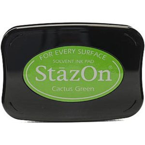 StazOn Solvent Ink Pad – Cactus Green