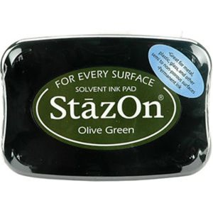 StazOn Solvent Ink Pad – Olive Green