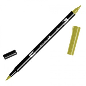 Tombow Dual Brush Marker – 076 Green Ochre