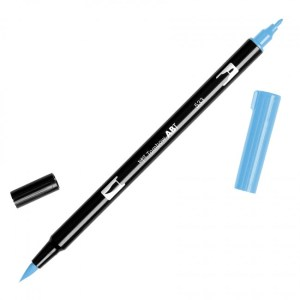 Tombow Dual Brush Marker – 533 Peacock Blue