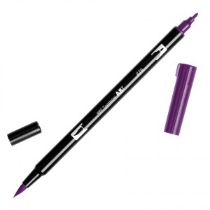 Tombow Dual Brush Marker – 679 Dark Plum