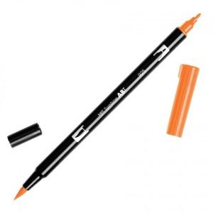 Tombow Dual Brush Marker – 925 Scarlet Orange