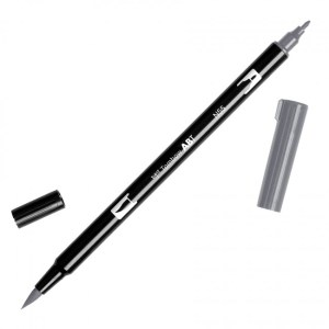 Tombow Dual Brush Marker – N55 Cool Gray 7