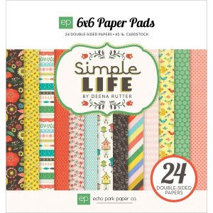 Echo Park Paper Company – Simple Life 6×6 Paper Pad