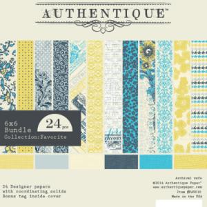 Authentique Paper Pad 6″X6″ 24/Pkg – Favorite
