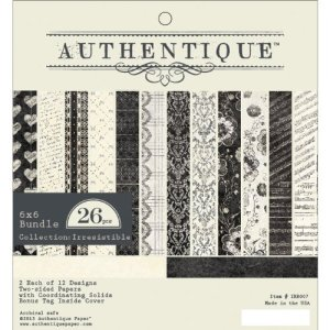 Authentique Paper Pad 6″X6″ 24/Pkg – Irresistible