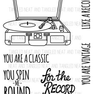 Neat & Tangled For the Record Cling Stamp