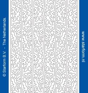Starform Glitter Stickers 7045 – Black/Silver
