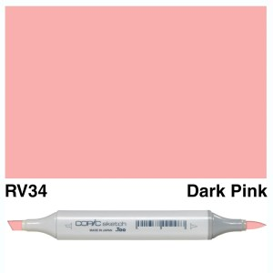 Copic Marker Sketch RV34 Dark Pink