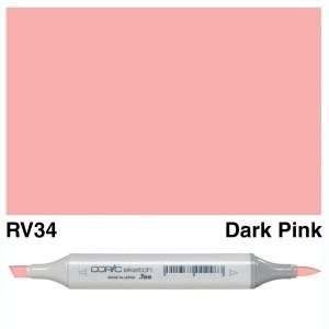 Copic Marker Sketch RV34 Dark Pink