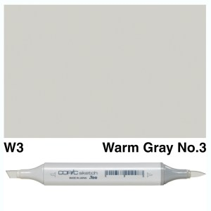 Copic Sketch W3-Warm Gray No.3