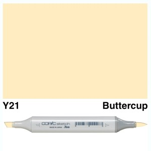Copic Marker Sketch Y21 Buttercup Yellow