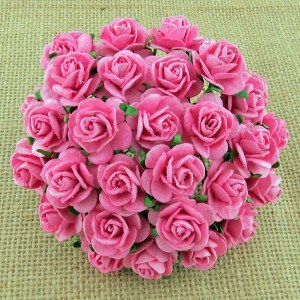Wild Orchid Crafts Pink Mulberry Paper Open Roses