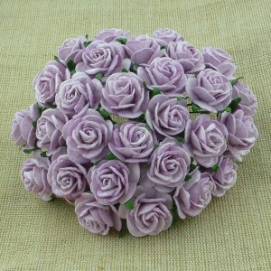 Wild Orchid Crafts Lilac Mulberry Paper Open Roses