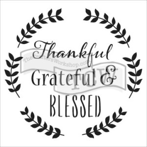 The Crafter's Workshop 6×6 Stencil Thankful