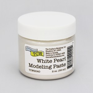 The Crafter's Workshop White Pearl Modeling Paste 2 oz.