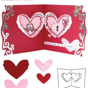 Elizabeth Craft Designs – Karen Burniston – Pop it Ups Metal Dies – Heart Pivot Card