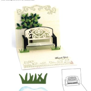 Elizabeth Craft Designs – Karen Burniston – Pop it Ups Metal Dies – Garden Bench