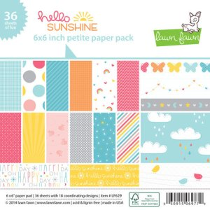 Lawn Fawn – Hello Sunshine – 6 x 6 Petite Paper Pack