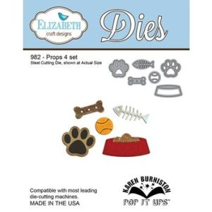Elizabeth Craft Designs – Karen Burniston – Pop it Ups Metal Dies – Props 4 set