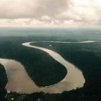 vista aerea del Rio delle Amazzoni