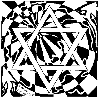Magen David Maze - Star of david the maze, psychedelic art