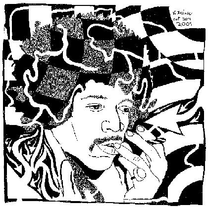 Purple Maze - Jimi Hendrix Psychedelic mazes by yonatan frimer