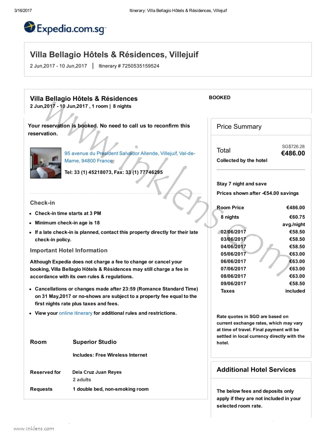 How to apply for schengen visa at french embassy in singapore and 7 flight reservationbooking with confirmed dates some airlines allow flight reservation for two to three days but the visa processing requires a week altavistaventures Images