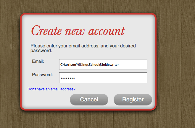 School Login example
