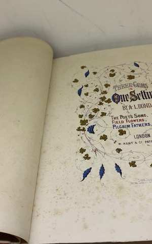 Three Gems in One Setting: The Poet's Song (Tennyson); Field Flowers (Thomas Campbell); Pilgrim Fathers (Mrs Hemans)