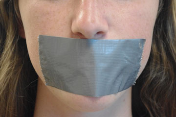Image result for free speech, photos, tape over mouth