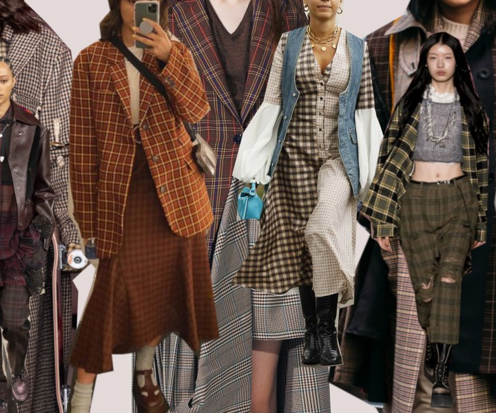 It's time to break away from the restrictive ideas of minimalist fashion, and explore the new season's style trends without boundaries. A trend that has been emerging from this maximal evolution is the clashing of a classic fall print: plaid.