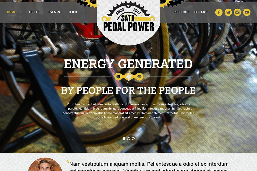 San Antonio Web Design Pedal power Website close