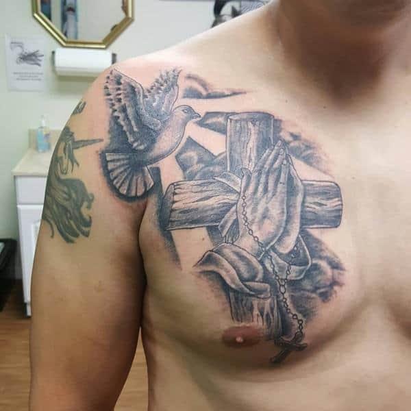 Dove Hands Releasing Tattoo