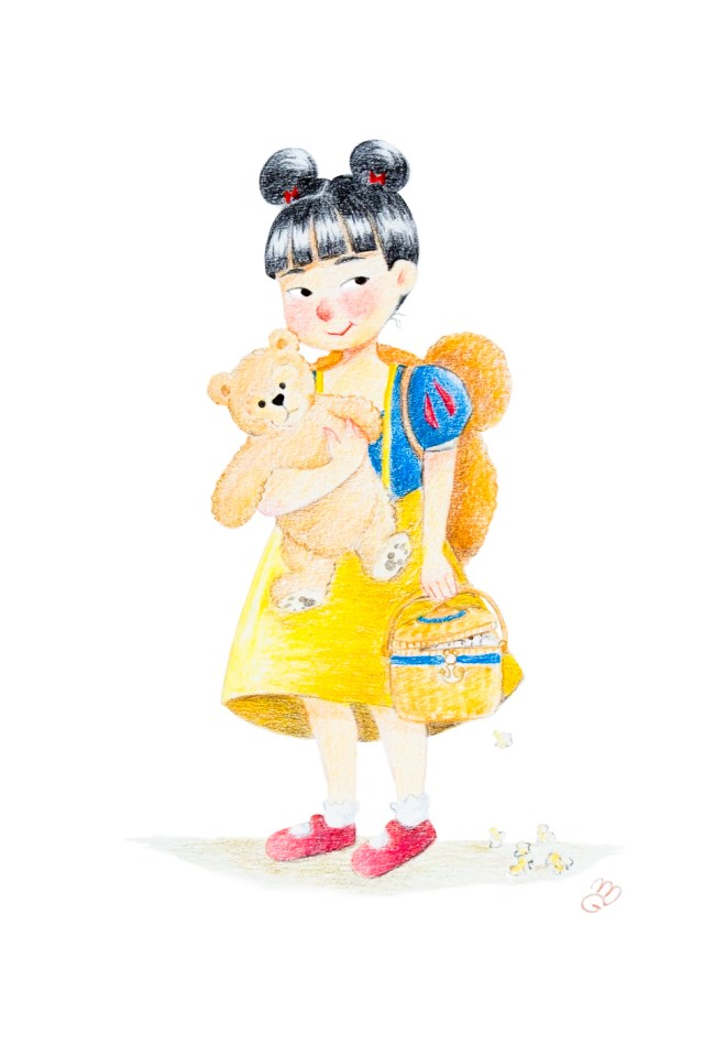 52 Week Illustration Challenge disney sea disneysea japan color pencils illustration snow white duffy bear