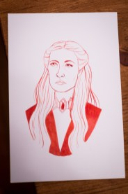 Game of Thrones - Inktober - Melissandre the red woman