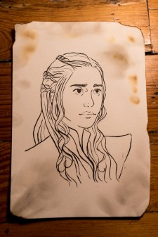 Game of Thrones - Inktober - Daenerys Targaryen, Khalessi