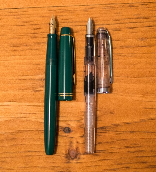 Inktober supplies - foutain pens - Noodler's ahab and pilot 78G