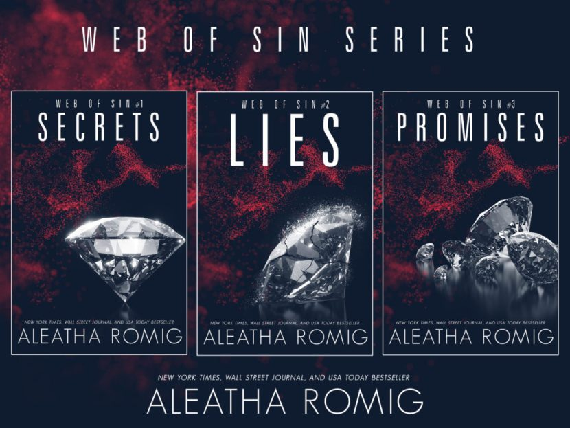 Web of Sin Trilogy by Aleatha Romig Final Two Books Cover