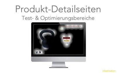 Produkt-Detailseite: Optimierungs-/Testbereiche