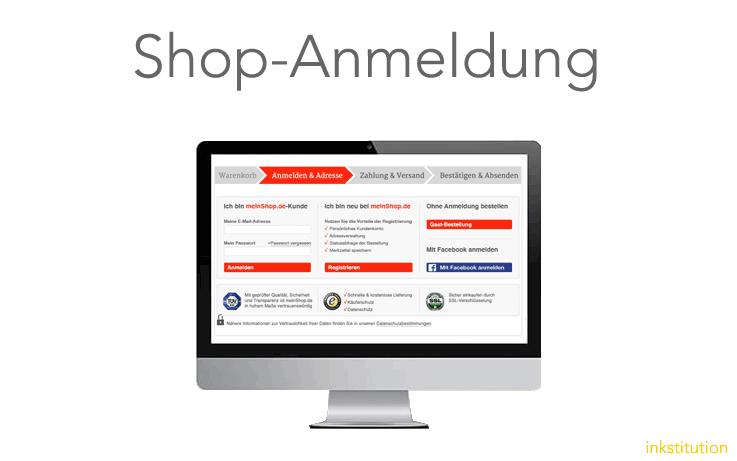 Die optimierte Shop-Anmeldung