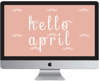 Free desktop wallpaper for the month of April by Inkstruck Studio