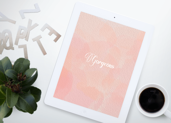 Free watercolor wallpaper for iPad - Inkstruck Studio
